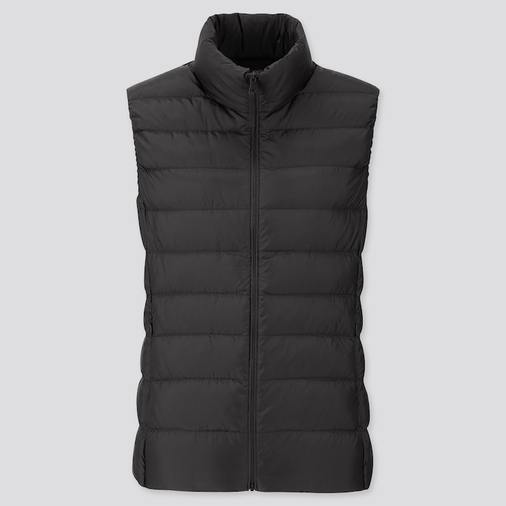 WOMEN ULTRA LIGHT DOWN VEST, BLACK, large
