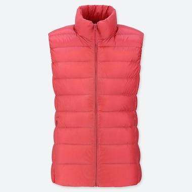 Women Ultra Light Down Vest, Pink, Medium