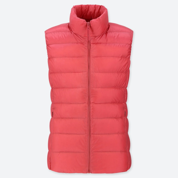 WOMEN ULTRA LIGHT DOWN VEST, PINK, large