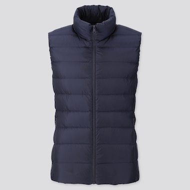 WOMEN ULTRA LIGHT DOWN VEST, NAVY, medium