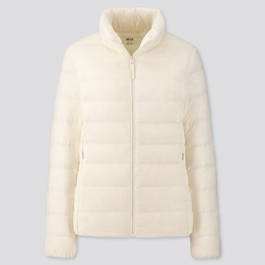 Women Ultra Light Down Jacket, Off White, Medium