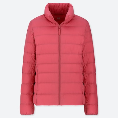 Women Ultra Light Down Jacket, Red, Medium