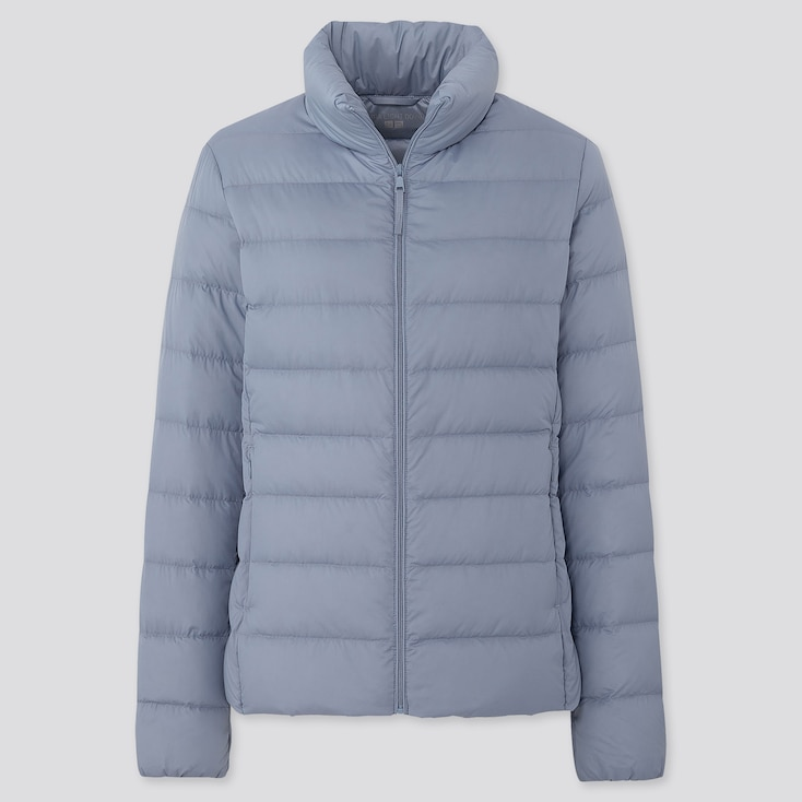 Women Ultra Light Down Jacket, Blue, Large