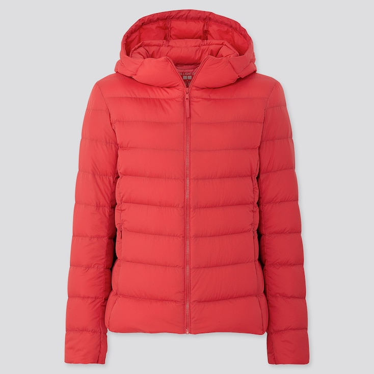 Women Ultra Light Down Parka, Red, Large