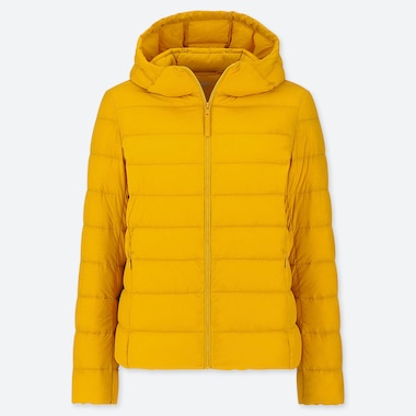 WOMEN ULTRA LIGHT DOWN PARKA, YELLOW, medium