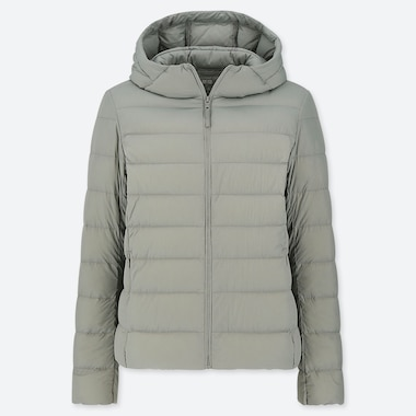 WOMEN ULTRA LIGHT DOWN HOODED PARKA