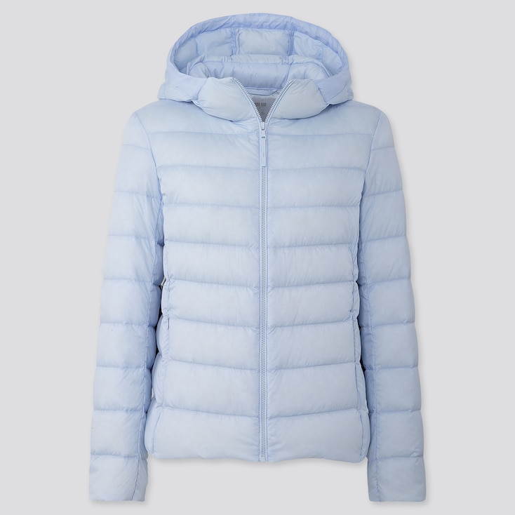 Women Ultra Light Down Parka, Light Blue, Large