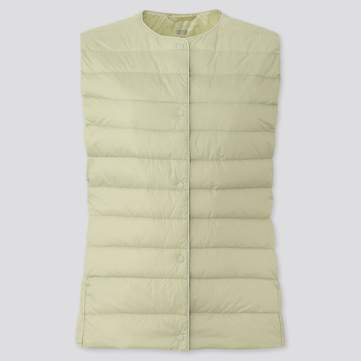 Women Ultra Light Down Compact Vest, Light Green, Large