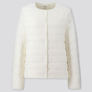 Women Ultra Light Down Compact Jacket, Off White, Medium