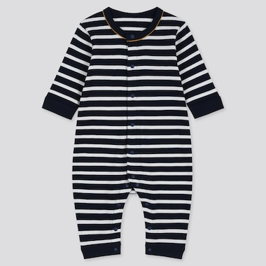 BABIES NEWBORN STRIPED LONG SLEEVED ONE PIECE OUTFIT