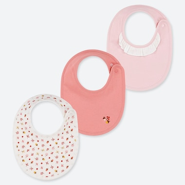 BABIES NEWBORN NUT PRINT BIBS (THREE PACK)