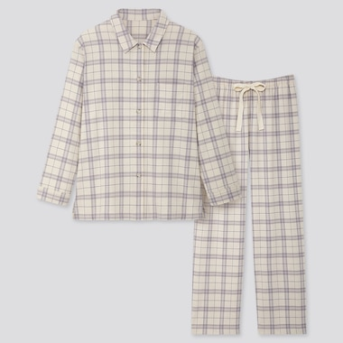 WOMEN FLANNEL STRETCH CHECKED PYJAMAS