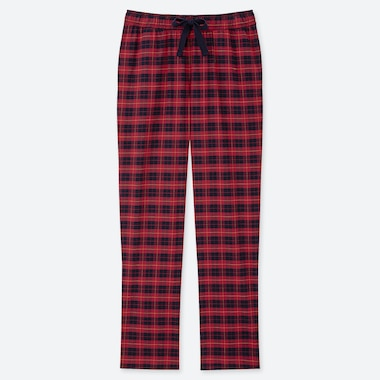 WOMEN FLANNEL STRETCH TARTAN CHECKED TROUSERS