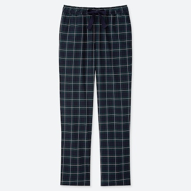 WOMEN STRETCH FLANNEL PANTS, DARK GREEN, medium