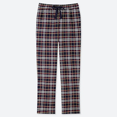 WOMEN STRETCH FLANNEL PANTS, NAVY, medium