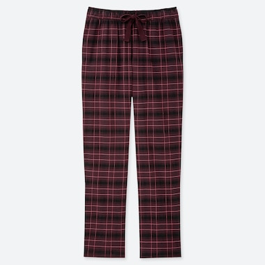 WOMEN FLANNEL STRETCH CHECKED TROUSERS