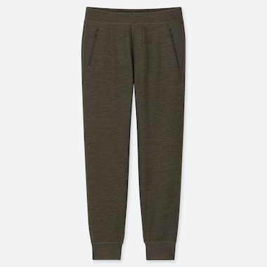 MEN STRETCH FLEECE PANTS, DARK GREEN, medium