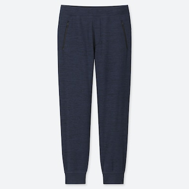 MEN STRETCH FLEECE PANTS, NAVY, medium
