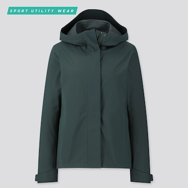 Women Blocktech Parka, Dark Green, Medium