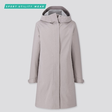 Women Blocktech Coat, Gray, Medium