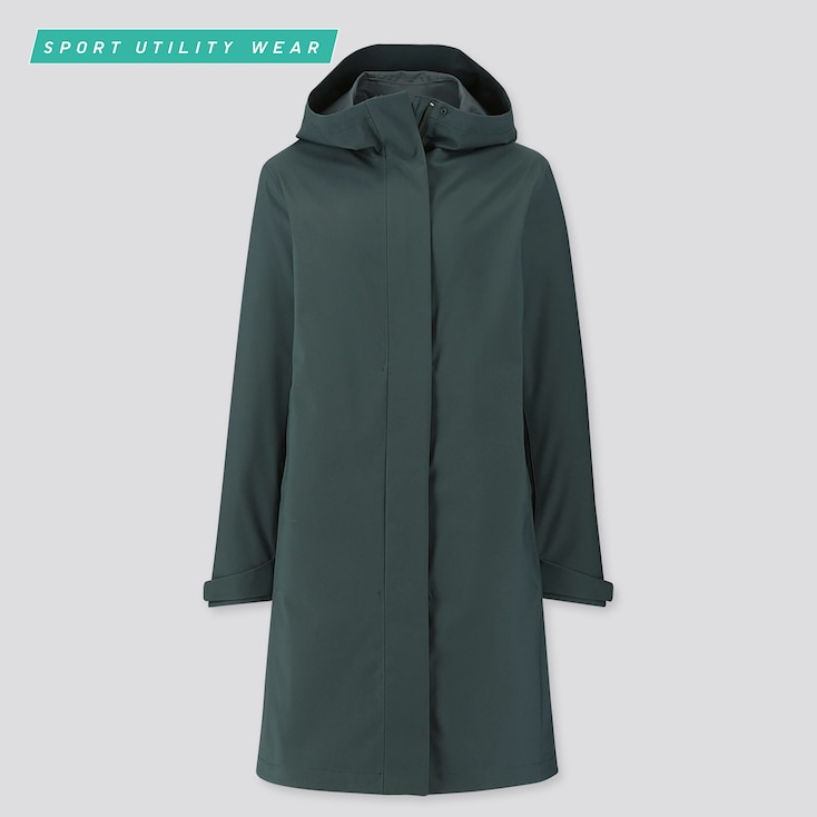 WOMEN BLOCKTECH COAT, DARK GREEN, large
