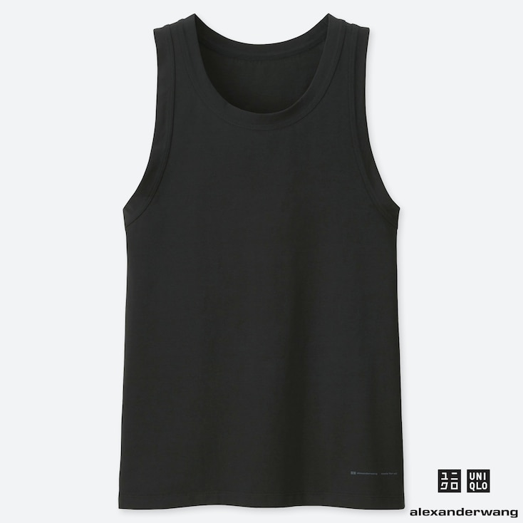 MEN AIRism TANKTOP (ALEXANDER WANG), BLACK, large