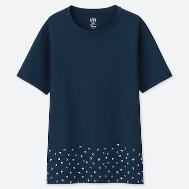 DAMEN UT BEDRUCKTES T-SHIRT MICKEY BLUE