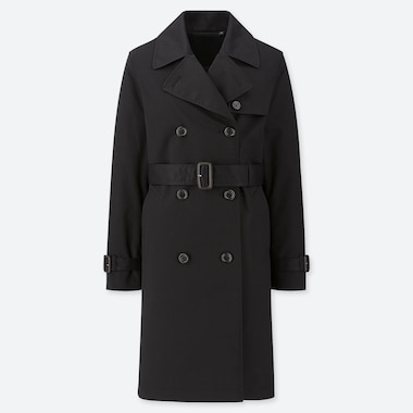WOMEN TRENCH COAT (ONLINE EXCLUSIVE), BLACK, medium