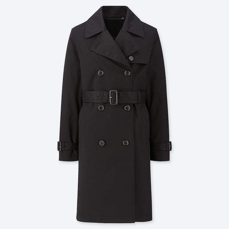 WOMEN TRENCH COAT (ONLINE EXCLUSIVE), BLACK, large