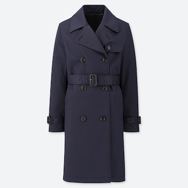 WOMEN TRENCH COAT (ONLINE EXCLUSIVE), NAVY, medium