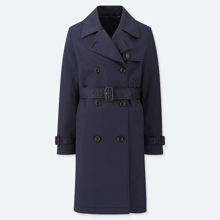 WOMEN TRENCH COAT (ONLINE EXCLUSIVE), NAVY, large