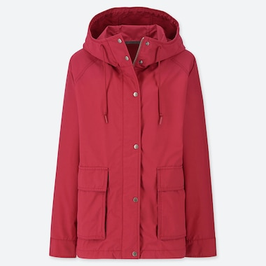 WOMEN OVERSIZED PARKA, RED, medium