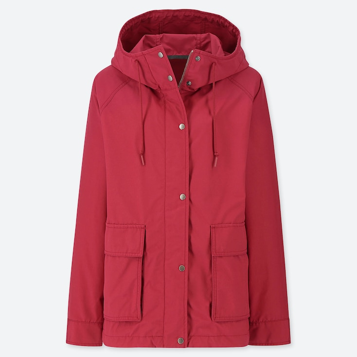 WOMEN OVERSIZED PARKA, RED, large