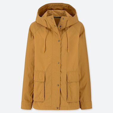 WOMEN OVERSIZED PARKA, YELLOW, medium