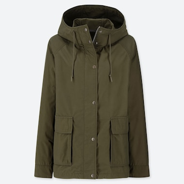 WOMEN OVERSIZED PARKA, DARK GREEN, medium