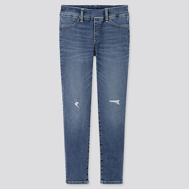 GIRLS UTRA STRETCH DENIM SKINNY FIT TROUSERS