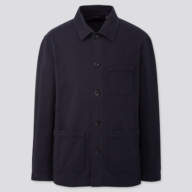 MEN WASHED JERSEY WORK JACKET