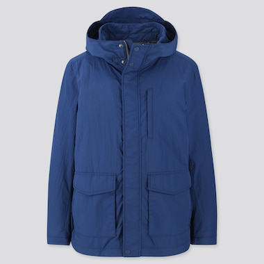 Men Jersey Lined Field Parka, Blue, Medium