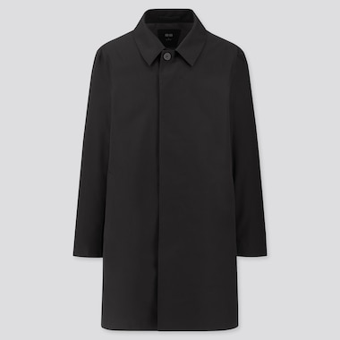 MEN BLOCKTECH SINGLE-BREASTED COAT (ONLINE EXCLUSIVE), BLACK, medium