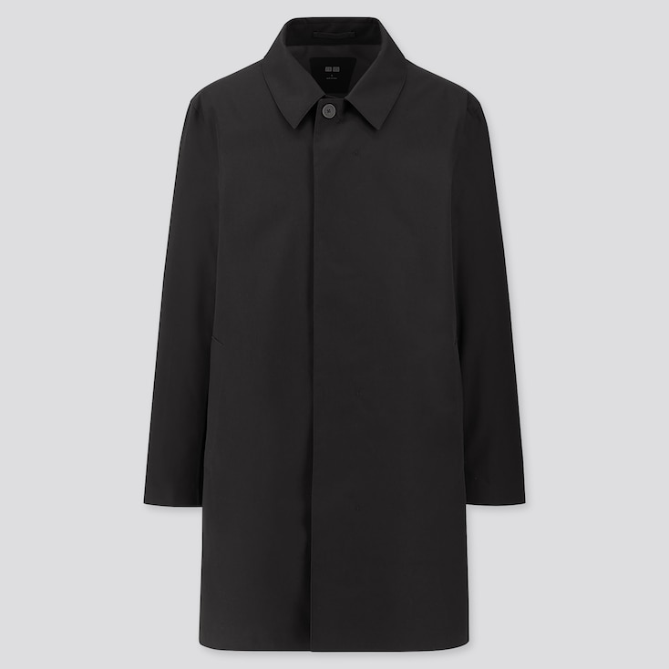 MEN BLOCKTECH SINGLE-BREASTED COAT (ONLINE EXCLUSIVE), BLACK, large
