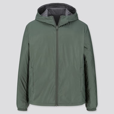 MEN REVERSIBLE PARKA, OLIVE, medium