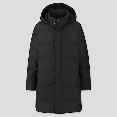 MEN SEAMLESS DOWN COAT, BLACK, medium