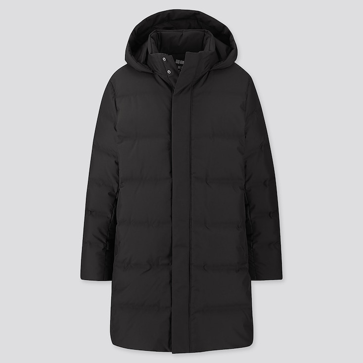 MEN SEAMLESS DOWN COAT, BLACK, large
