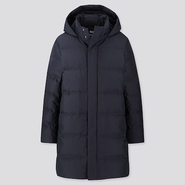 MEN SEAMLESS DOWN COAT, NAVY, medium