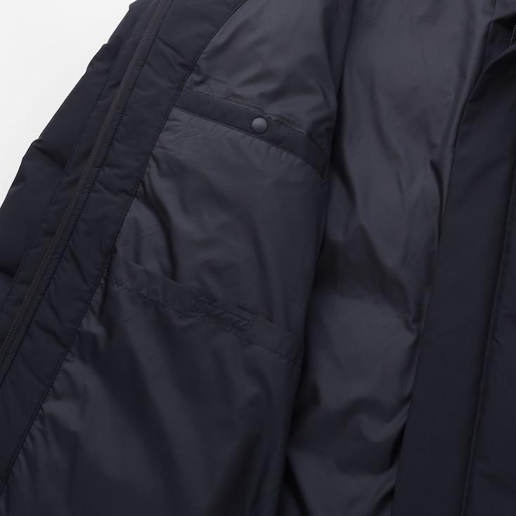 Men Seamless Down Coat, Black, Large