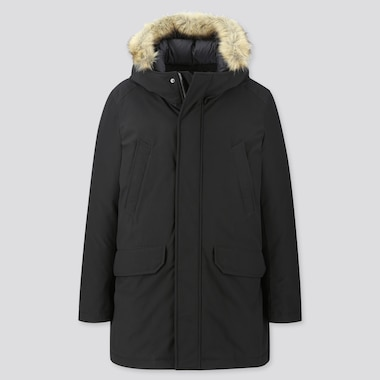 HYBRID DOWN ULTRA WARM COAT, BLACK, medium