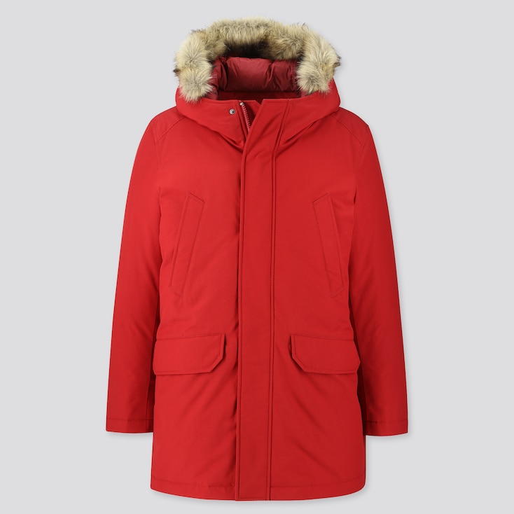 Hybrid Down Ultra Warm Coat, Red, Large