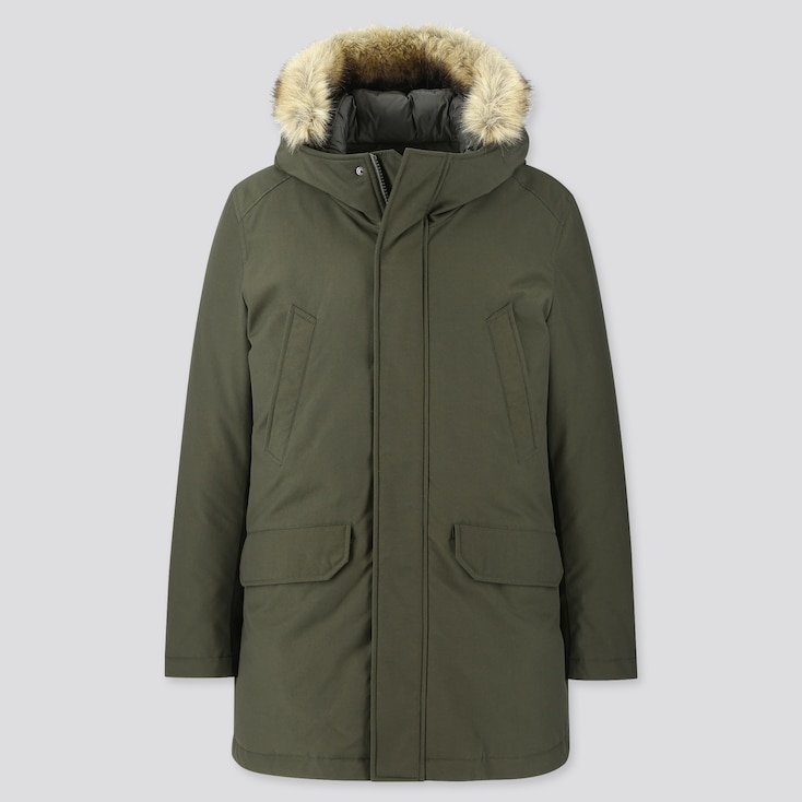 HYBRID DOWN ULTRA WARM COAT, DARK GREEN, large