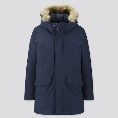 MEN HYBRID DOWN ULTRA WARM COAT, NAVY, medium