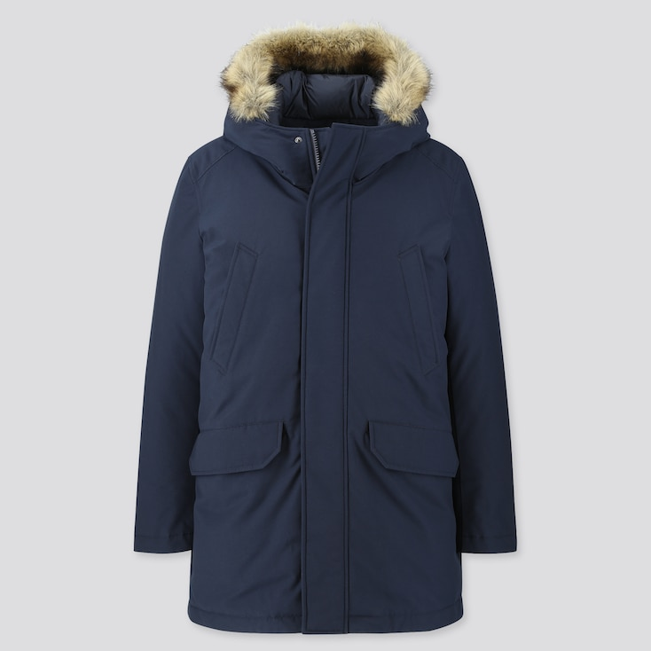Hybrid Down Ultra Warm Coat, Navy, Large